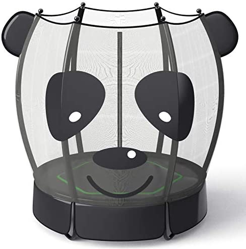 LANGXUN 5ft Panda Trampoline for Kids 60 Inch Mini Toddler Trampoline with Enclosure Net Indoor product image