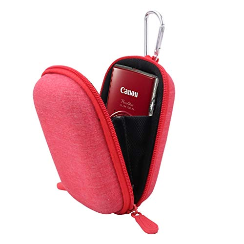 Aenllosi Hard Carrying Case Replacement for Canon PowerShot ELPH 180/190 Digital Camera (Carrying case, Red)