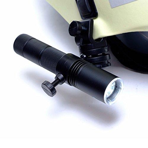 Profi-LED Feuerwehr Helmlampe - Lithium-Ionen Akku - super hell inkl. Halter
