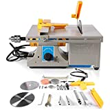 TOPCHANCES Mini Table Saws ,Multifunction Jewelry Rock Bench Polishing Grinding Machine Table Bench Lathe Benchtop Polisher Took Kit for DIY Jewelry Lapidary Equipment ,0-10000r/min 110V