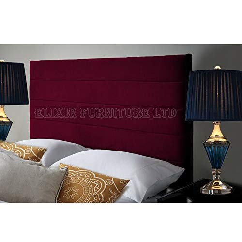Khul Headboard for Divan Beds Furniture Bedrooms Plush Velvet (Burgundy, Small Single 2 FEET 6 INCHES, Height 36 inch)