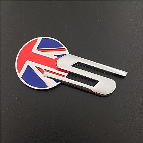 Adesivo per bagagliaio in metallo con stemma S, per Jaguar XE XF XJ-S XJ-6 XF XJL X-Type F-PACE F-Type Xk8 XFR F-TYPE SVR adesivi esterni 3D (nome colore: A Sliver)