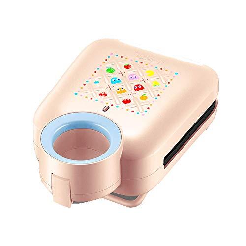 NAFE Sandwichera, 220V-650W, máquina de Desayuno multifunción, tostadora para gofres, con Placa Antiadherente extraíble, asa fría, Apta para lavavajillas-Pink