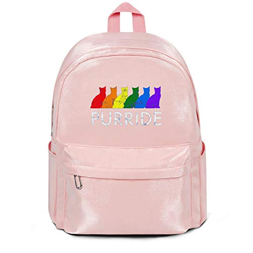 VMHTRHGP Gay Pride Cat Pink Wool School Bag Backpack Girls Unisex Cool College Laptop Bag for Teens Girls Students Casual Lightweight Travel Daypack Outdoor