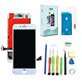 Screen Replacement for iPhone 7 (4.7 inch) -3D Touch LCD Screen Digitizer Replacement Display Assembly Repair Kits Waterproof Adhesive, Tempered Glass, Tools,Instruction (White)