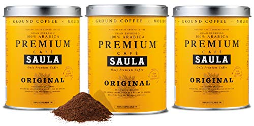 Premium Original Ground coffee - 100% Arabica Spanish Espresso Blend from Award Winning Caf? Saula (3X 250g)