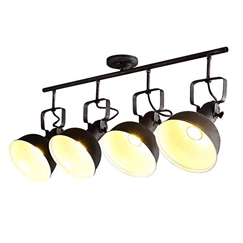 Jiafum Luces de Mesa de Billar Negras rusticas, arana de Sombrero de Metal Industrial para Sala Comedor Mesa de Billar Luces de Isla (Disponible en una Variedad de Estilos),D