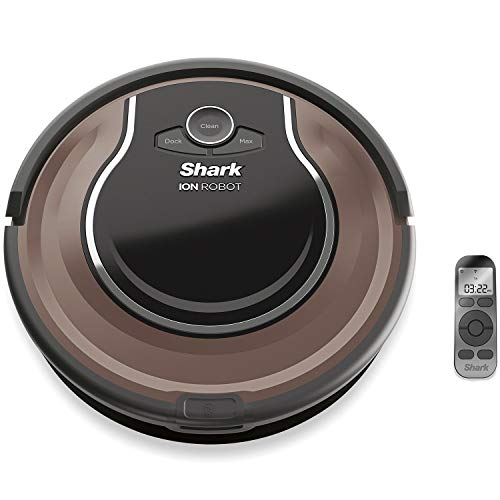 Shark ION Robot Dual-Action Robot Vacuum Cleaner with 1-Hour Plus of Cleaning Time, Smart Sensor Navigation and Remote Control (RV725) Dining Features Kitchen Robotic Vacuums