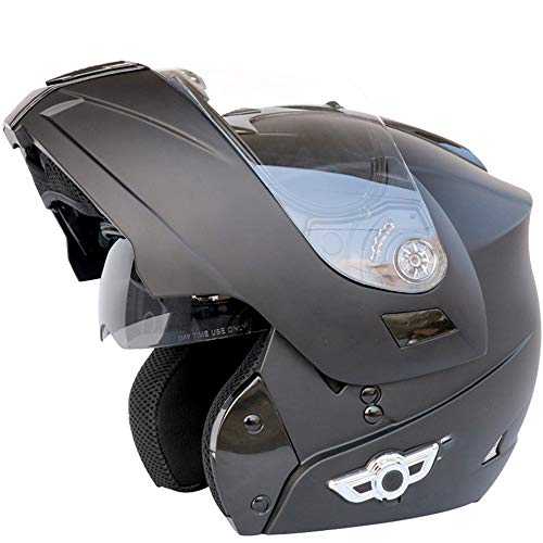Motorcycle Bluetooth Helmet, Modular Flip-Type Double Sun Visor Full Helmet, DOT Certified Helmet, Built-in Mp3 FM Broadcast Integrated Intercom Communication System XL(Color:D,Size:XXL=63-64CM)