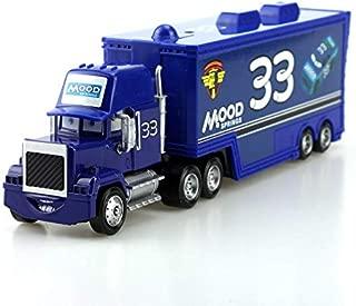 Disney Disney Pixar Cars No.33 Mood Mack Truck 1:55 Diecast Metal Alloy and Plastic Modle Cars Toys for Children Lightning McQueen No 33