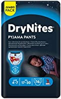 DryNites Pyjama Pants, Age 4-7 Y, BOY, 17-30 kg, 16 Bed Wetting Pants