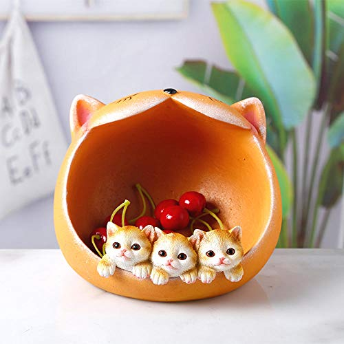 Bedom wallpaper Key storage decoration porch home shoe cabinet decoration living room home furnishings-Large Cat Head Storage-Yellow