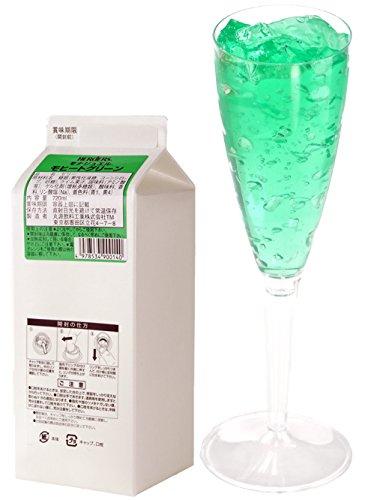 ハーダース モナジュエル モヒートグリーン L-AC 720ml×1本入 ゼリー飲料 ゼリー飲料まとめ買い 業務用 ゼリー宝石 キラキラ インスタ映え 洋酒 ゼリー ライム 果汁 モヒート ミント 緑