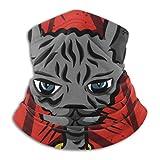 Miedhki Calentador de Cuello de vellón, Bufanda Multifuncional de Dibujos Animados Grunge de Cabeza de Gato Sphynx, una máscara Facial Completa o Sombrero, Polaina de Cuello, Gorra de Cuello, ski Mas