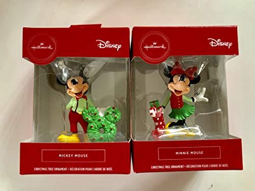 HALLMARK-2019-MICKEY & Minnie Mouse Christmas Ornament Set