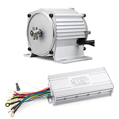 48V 750W DC Brushless Mid Drive Motor, Electric Motorcycle Motor, BLDC Motor Kit With Speed Controller, E-motorcycle, Dirt Bike Tricycle E-Bike Conversion Kit 2800RPM (BLDC Motor Kit With Controller)