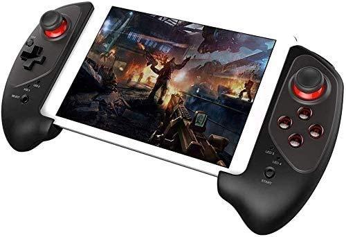 YUYANDE Controlador de Juegos móviles, con Joystick Flexible, Controlador de Bluetooth Wireless Bluetooth telescópico para Android y iOS Teléfono (Negro)