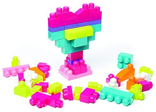 Mega Bloks DCH54 - Bausteinebeutel Medium mit 60 Bausteine, pinkfarben