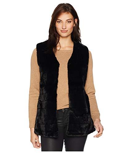 Echo Women's Faux Fur Vest, Black, Medium/Large