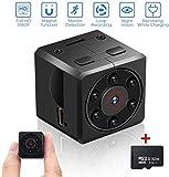 Mini Cámara Espía con Tarjeta SD de 32GB, euskDE Full HD 1080P Cámara Portátil Pequeño Tamaño...