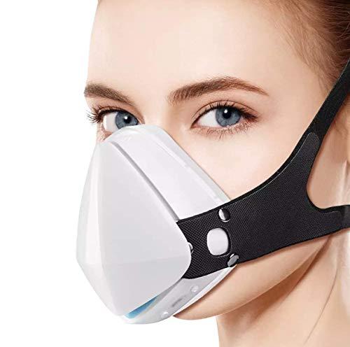 Purificador de aire recargable recargable blanco HEPA filtro facial mascarilla