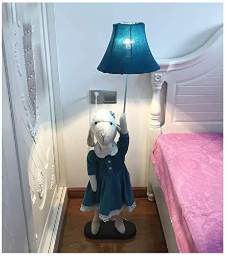 FHW Luces de Piso Habitación para niños Dibujos Animados Ovejas Hermana Piso Lámpara Creativa Sala de Estar Estudio Decoración Lámpara de Mesa Vertical Dormitorio Moderno Minimalista Lámpara de Noche