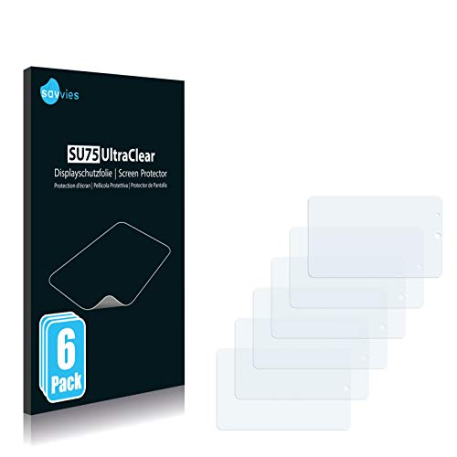 Savvies 6X Schutzfolie kompatibel mit Mobilcom Debitel oneTab Displayschutz-Folie Ultra-transparent