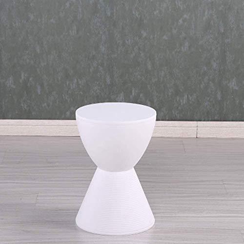 Reposapiés tapizado Taburete para Pies, Mesa Auxiliar Moderna De Acento para Uso En Interiores Y Exteriores / 17x11.M8inches Reposapiés de Almacenamiento(Color:Blanco)
