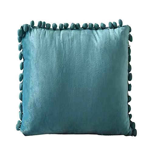 INMOZATA Cushion Pads with Cushion Cover 45 x 45cm Square Teal Cushion Inserts Soft Velvet Polyester Pillow Cushion Filler for Bed Chair Sofa, 1 Piece (18 x18 inch)