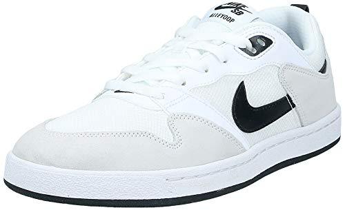Nike SB Alleyoop, Zapatillas Deportivas Unisex Adulto, Blanco/Negro, 42 EU