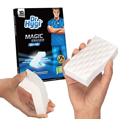 10 x Magic Erasers by Dr.Hygi™   Heavy Duty, Chemical-free Magic Sponges For Cleaning   Magic Eraser Sponge for Mark & Stain Remover