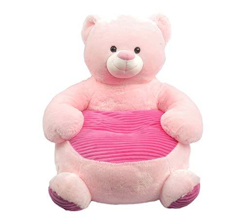 Linzy Plush Bear Plush Sofa Childrens Furniture, Pink, 20' (L-23061BEAR)