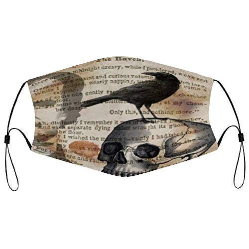 Edgar Allan Poe The Raven Skull Personalized Anti-Dust Face Scarf Mouth Guard mouth cover