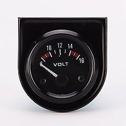 professional Universal Pointer 12V2 ″ 52mm Voltmeter Voltmeter Voltmeter Automotive Measuring Range 8-16V LED…