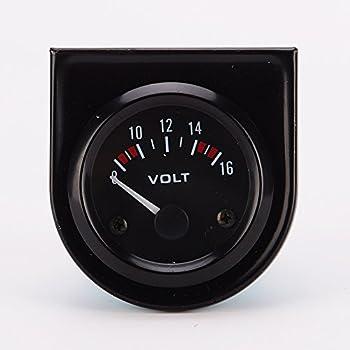 Universal pointer12v 2  52mm Volt Voltage Meter Gauge Voltmeter Car Auto Measure Range 8-16v LED Light dial Black