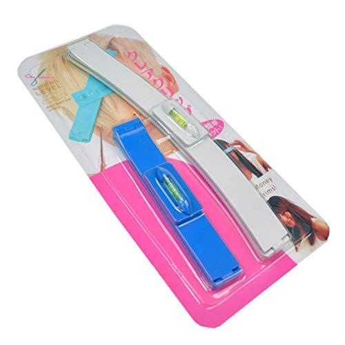 1 Set Clip para Kit de Corte de Cabello Flequillo de Pelo Clips de Nivelación para Trimmer Fácil de Cortar Herramienta de Peinado por SamGreatWorld, Azul y Blanco