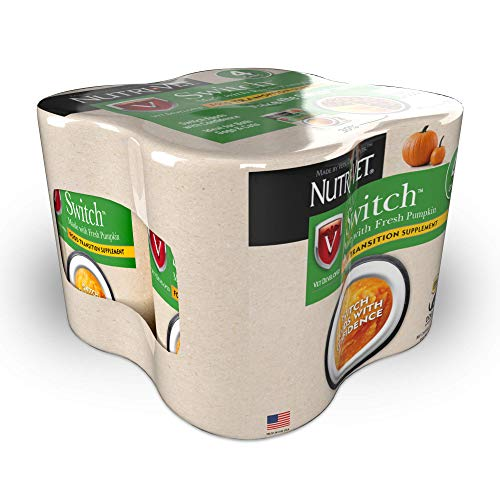 Nutri-Vet Switch Food Transition Supplement | Packed with Fiber to Help Prevent Upset Stomachand Support Healthy GI Tract During Food Transition | Fresh Pumpkin + SuperBlend Formula For Dogs and Cats
