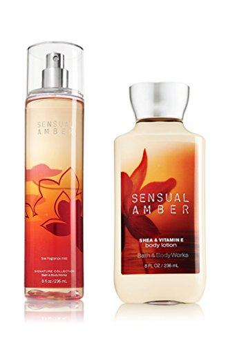 Bath & Body Works Sensual Amber Body Lotion and Mist Fragrance Set