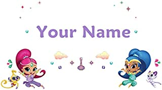 Personalized Shimmer and Shine Kids Name Wall Decal
