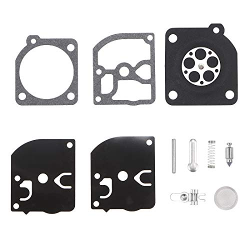 uxcell Carburetor Rebuild Kit Gasket Diaphragm RB-39 for McCulloch Eager Beaver 2010 2014 2016 2116 2118 2316 3210 35cc 32cc Chainsaw Engines Carb