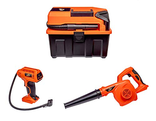 Armor All CKA203A Cordless 20V Utility Wet/Dry Shop Vacuum 3-Tool Kit