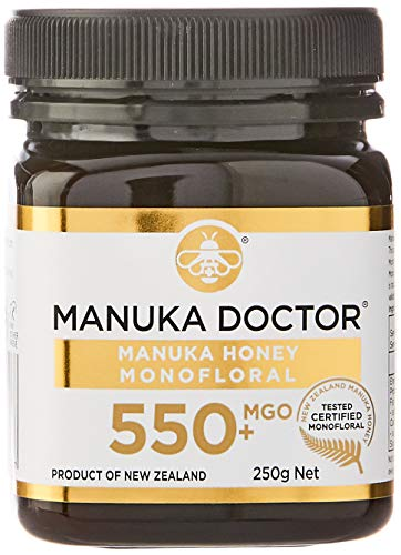 ManukaDoctorマヌカハニーMGO550+ニュージーランド産MANUKAHONEY100%国内正規品(250g)