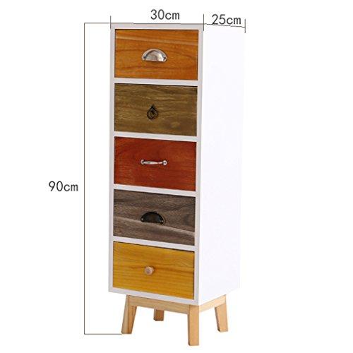 BOBE SHOP- kleine nachtkastjes, houten kloof opbergkast met lades nachtkastje, woonkamer slaapkamer decoratieve kasten, 11,8 inch breed 5-layer