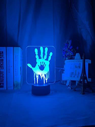 Lámpara De Ilusión 3D Luz De Noche Led Videojuego Death Stranding Impresiones De Manos Para Decoración De Habitación De Niños Regalo Genial Para Niños Gamers Luz De Noche Lámpara De Escritorio Usb