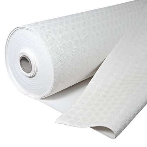 Protector de Mesa, salvamantel gofrado, Hule Muletón, Base Acolchada Impermeable con PVC y algodón, Protege la Mesa de Golpes y ralladuras (140 Redondo)