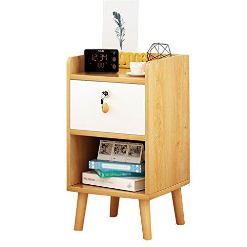 CL Table de chevet - Blanc/noir MDF Production Locker Salon Chambre Mini 1/2 Layer Lock Design Lock [6 styles et 4 tailles] Tables de nuit (Color : A, Size : 30 * 39 * 53CM)