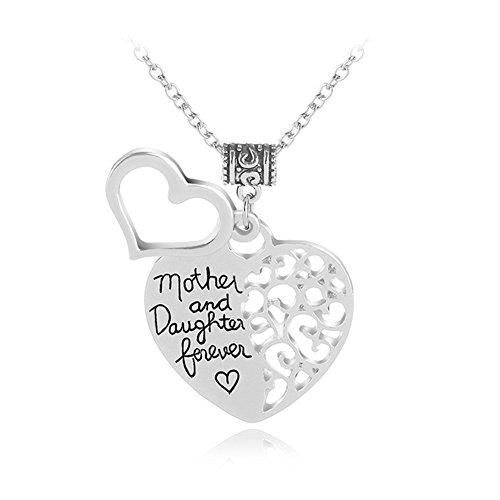 O amor entre mãe e filha é eterno coração vazado colar pingente mãe mãe mãe filha presentes joias da filha mãe melhor presente de Natal