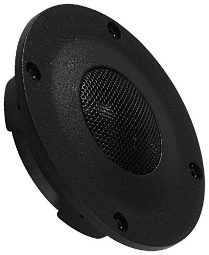 MONACOR DT-254 Hi-Fi-Kalottenhochtöner, universell einsetzbarer Hochton-Lautsprecher mit sehr tiefer Resonanz-Frequenz, leistungsstarker Speaker für den Selbstbau, 90 W, 8 Ohm, in Schwarz