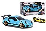 SIMBA TOYS Majorette - Porsche Coche de transporte Carry Car 911 GT3 RS, incluye un coche efectos de...
