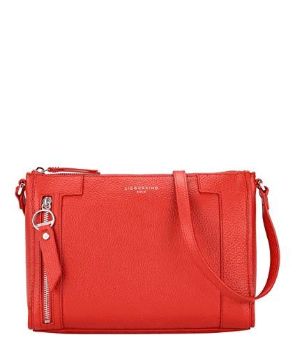 Liebeskind Berlin Damen L-Bag Crossbody Umhängetasche, poppy red, 27x19x10 cm